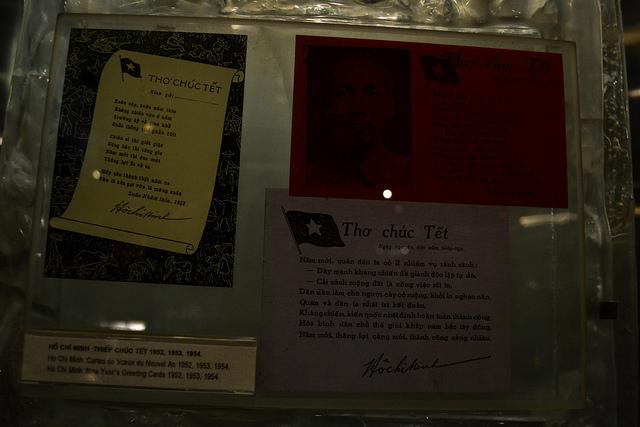 Một số hiện vật trưng bày trong Bảo tàng Hồ Chí Minh