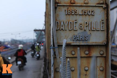Dấu tích xây dựng cầu Long Biên ngày nay vẫn còn