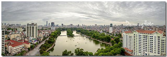 Công viên Thủ Lệ nhìn từ trên cao