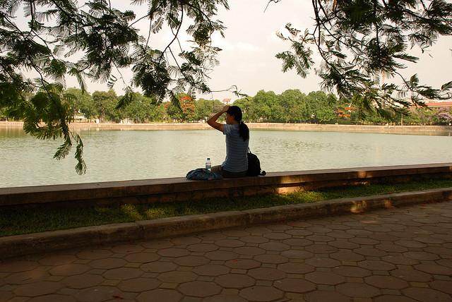 Ngày hè ở công viên Nghĩa Đô