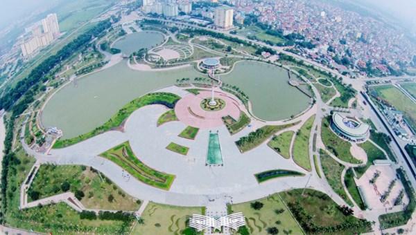 Công viên Hòa Bình nhìn từ trên cao