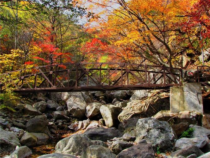 ngọn núi xinh đẹp, mùa thu Hàn Quốc, Seoraksan, Jirisan, Naejangsan, du lịch Hàn Quốc