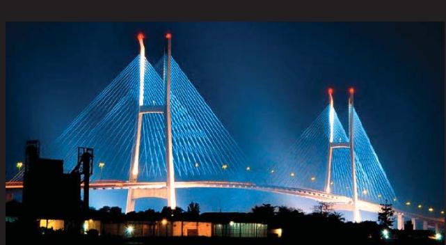 Cầu Mỹ Thuận nối liền Tiền Giang với Vĩnh Long