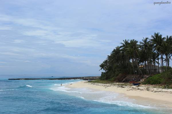 Đảo An Bình (đảo bé). Ảnh: quangbao1810