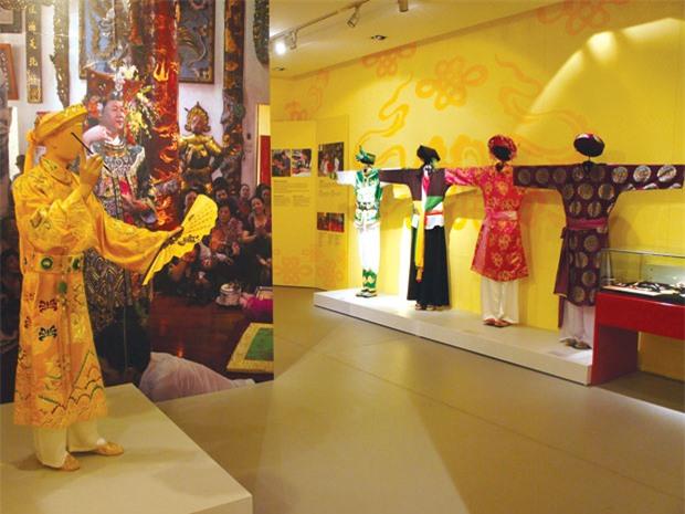 Một góc trưng bày của bảo tàng Phụ nữ Việt Nam