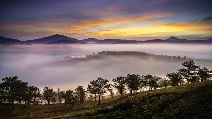 Thành phố sương mù Đà Lạt trong sắc màu hoàng hôn