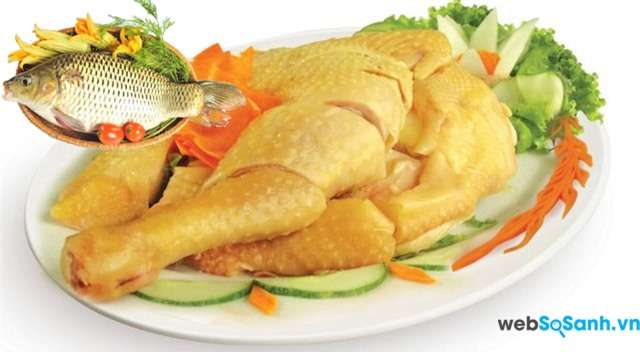 Không nên ăn thịt gà và cá chép cùng nhau