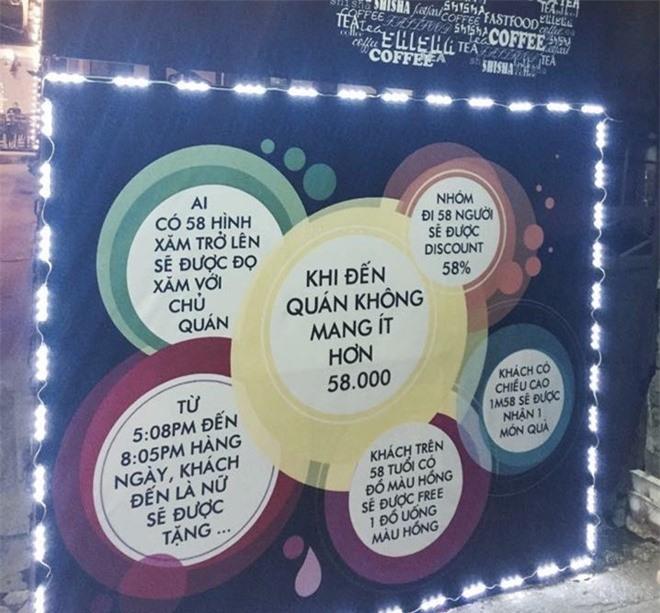Nội quy cấm mang dưới 58.000 đồng tại quán cà phê Hà Nội