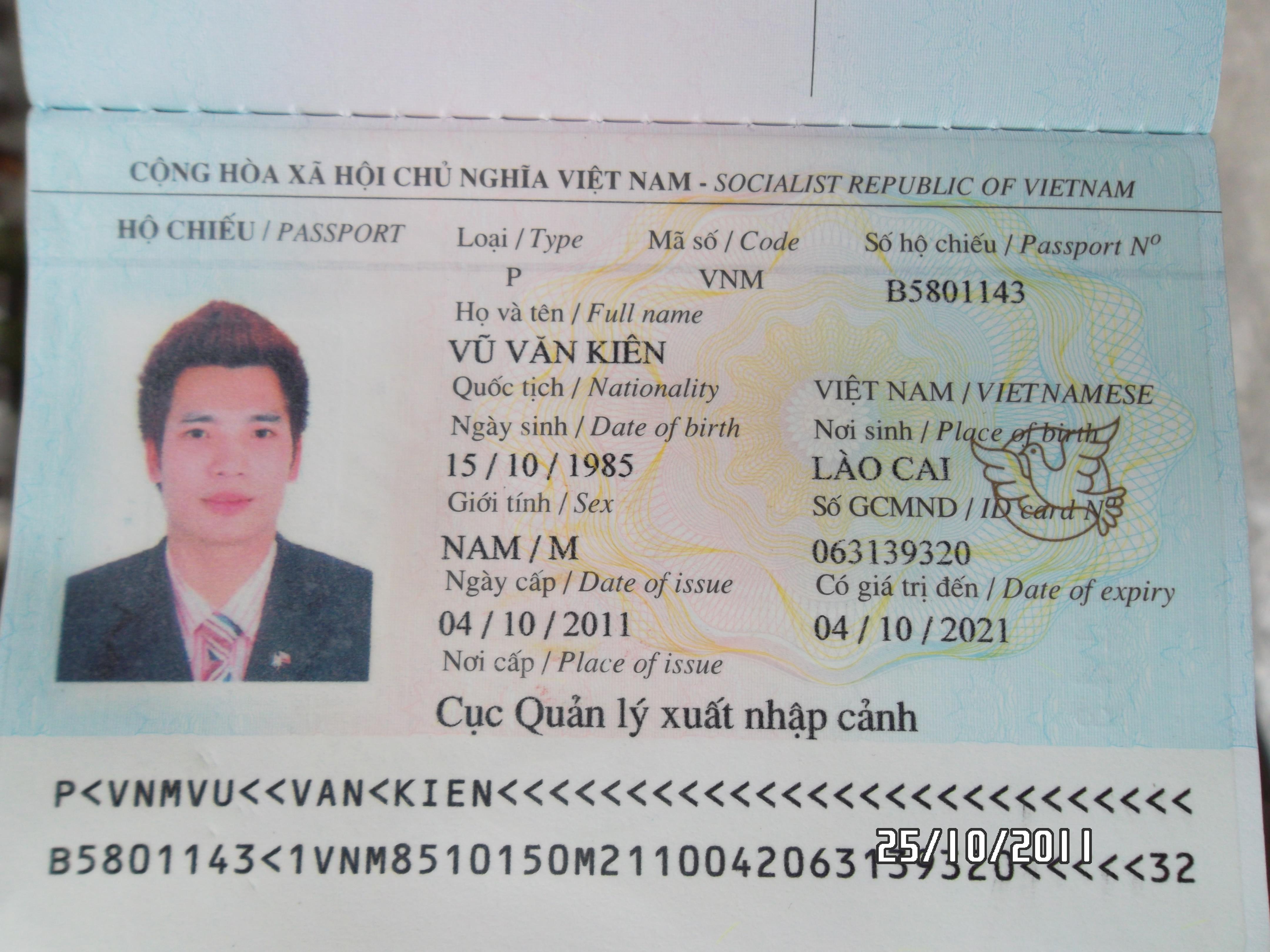 Hộ chiếu là giấy tờ do nước bạn ở cấp, công nhận quyền công dân của bạn.