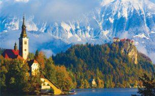 Thiên đường thu trên dãy Alps