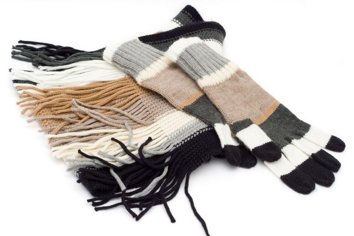 Đừng quên khăn choàng và găng tay len nữa nhé - Ảnh: sưu tầm