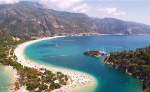 Vẻ đẹp ngoạn mục của bãi biển Turquoise Coast Thổ Nhĩ Kỳ từ trên cao