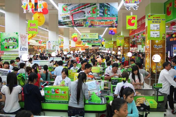 Quầy thanh toán siêu thị Big C