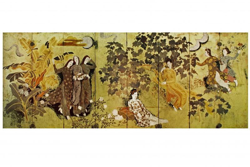 Các tác phẩm được trưng bày ở bảo tàng Mỹ thuật Việt Nam