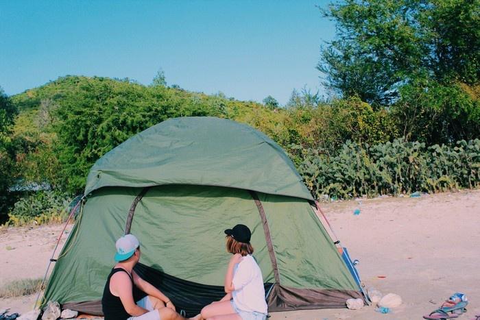 Ở Điệp Sơn thì cách tốt nhất là cắm trại thì mới có thể tận hưởng được hết vẻ đẹp của nơi đây