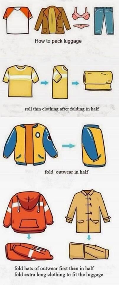 Bạn phải phân loại quần áo, mỗi kiểu quần áo gập khác nhau