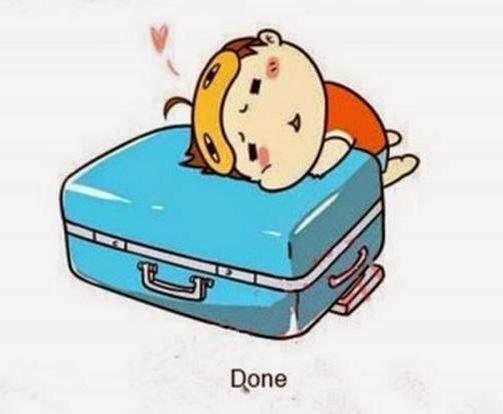 Bước cuối cùng kéo khóa vali lại