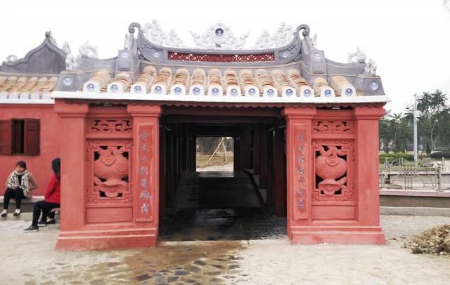 Chùa Cầu ở Thanh Hóa được xây dựng như phiên bản nhỏ so với Hội An - Ảnh: Trần Cường