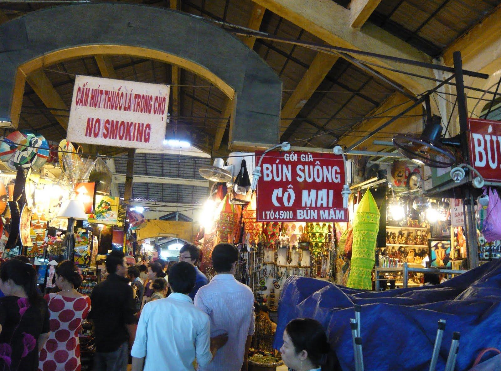 Một góc chợ Bến Thành