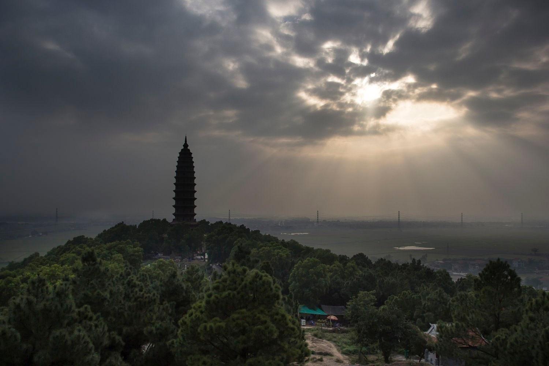 Chùa Phật Tích một ngày nắng buông tháng 1 - Ảnh: Lan Vương