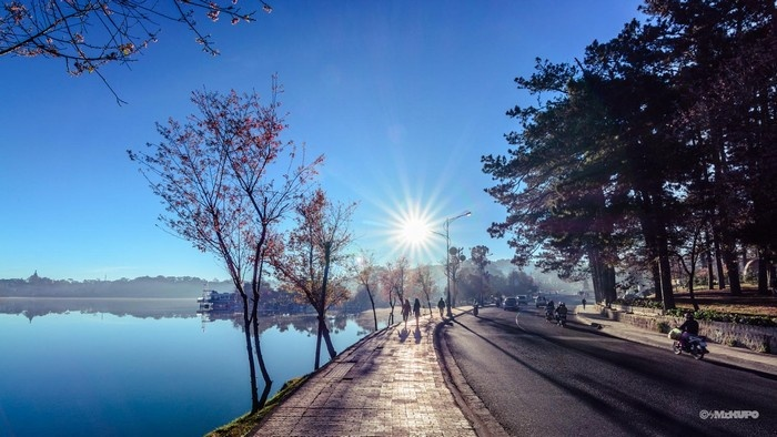 """Hồ Xuân Hương """"thơm tho"""" trong nắng xuân - Ảnh: Bui Luan"""