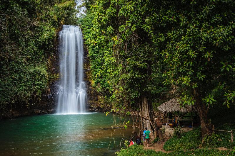 Pa Sỹ là một trong 7 thác nổi tiếng ở Măng Đen. Ảnh: NGUYEN T