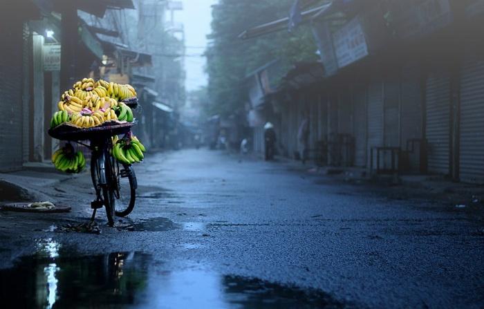 Hà Nội mùa đông cũng có những cơn mưa