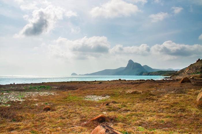 Bãi đất trống rộng ở mũi Cá Mập - Ảnh: Hoang Son Do