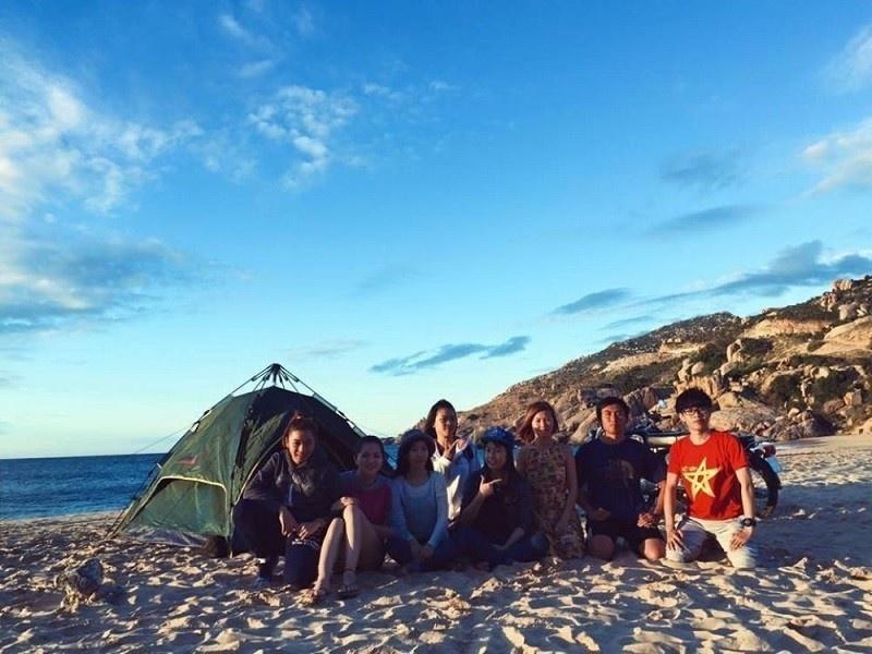 Và bãi Bàng cát trắng thích hợp để cắm trại