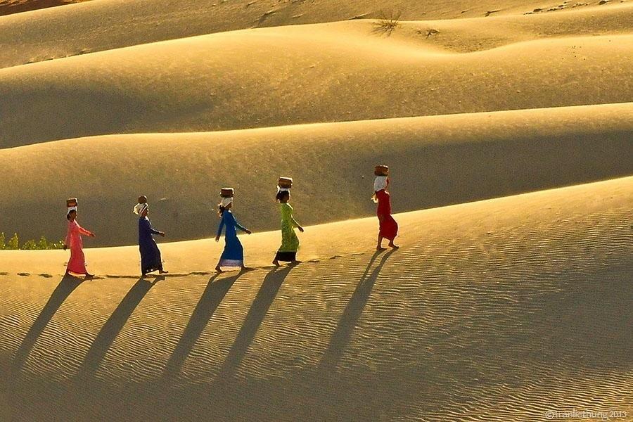 Nắng chiều buông nhẹ lên Nam Cương - Ảnh: Tran Liethung