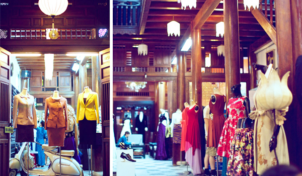 Đi quanh Hội An du khách có thể tìm kiếm dễ dàng những cửa hàng quần áo may mặc