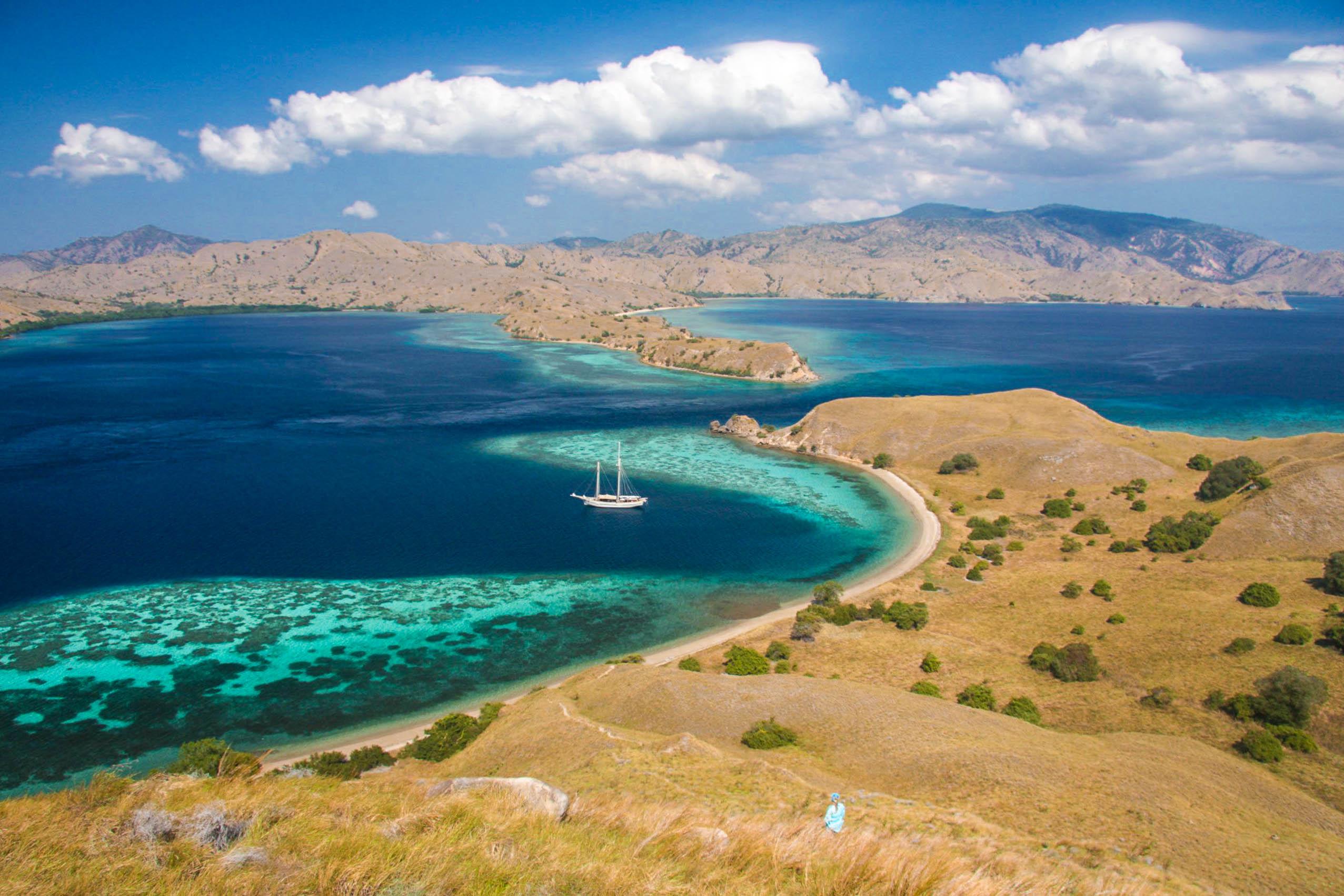 Có thể ngắm khung cảnh tuyệt vời nhất từ hòn đảo