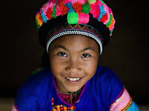 Trẻ em dân tộc Phù Lá - Ảnh: Réhahn