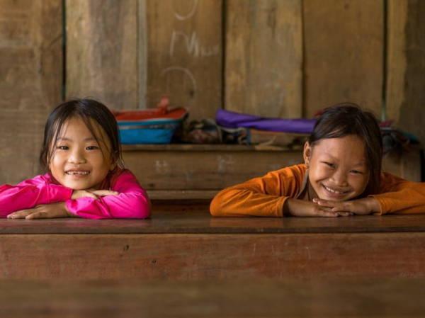 Trẻ em dân tộc Pà Thẻn trong lớp học ở thôn Thượng Minh, xã Hồng Quang, huyện Lâm Bình, Tuyên Quang - Ảnh: Réhahn