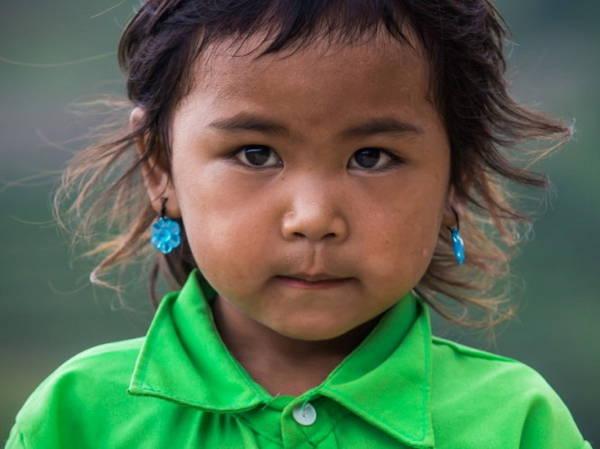 Chân dung bé gái dân tộc vùng cao - Ảnh: Réhahn