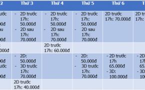 Tổng hợp các ngày giảm giá vé xem phim học sinh sinh viên ở tất cả rạp chiếu phim Hà Nội 2015