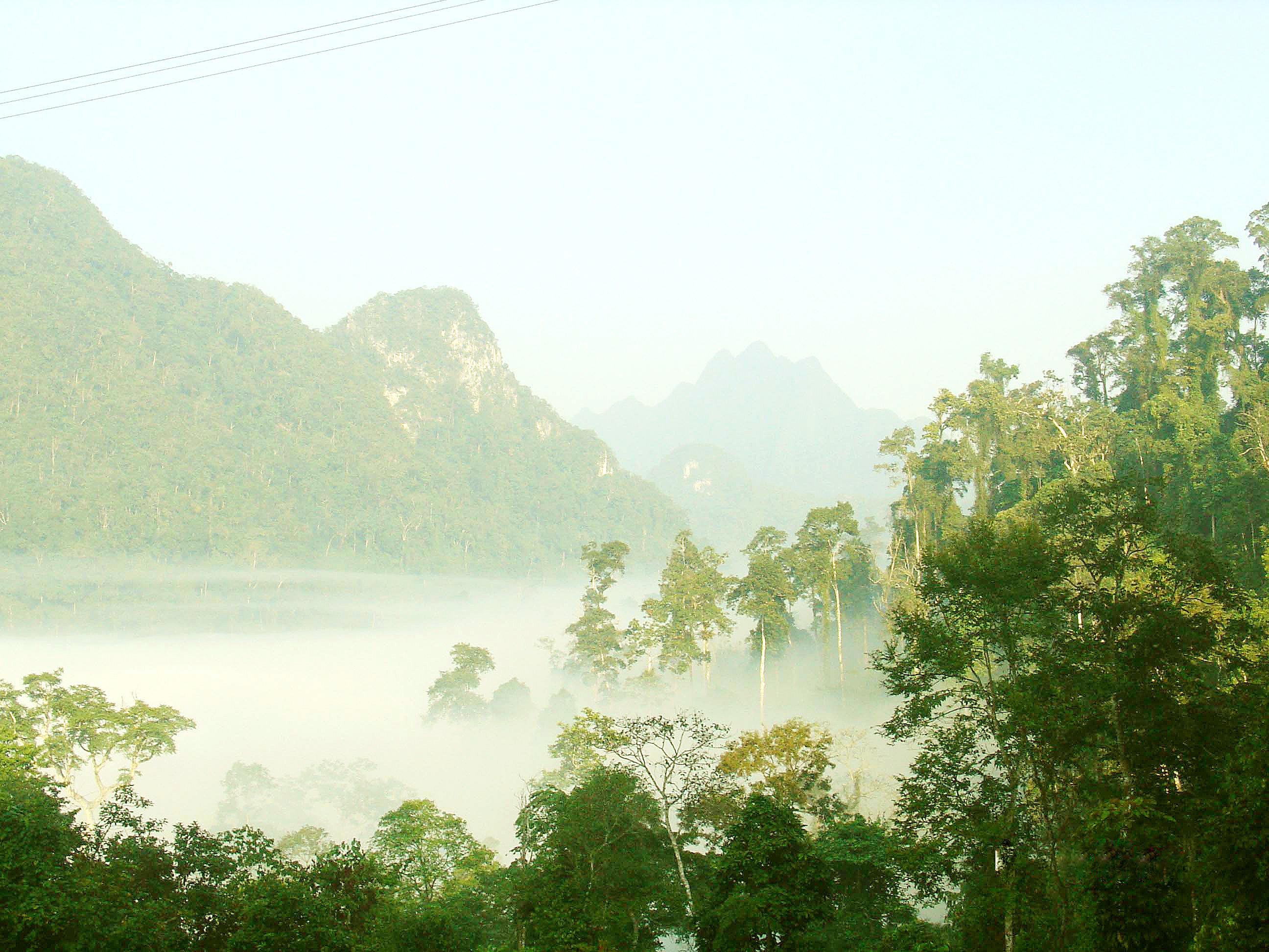 Biển mây trập trùng ở vườn quốc gia Xuân Sơn
